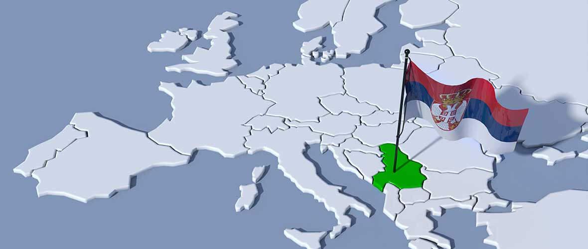 Serbien auf der Europakarte
