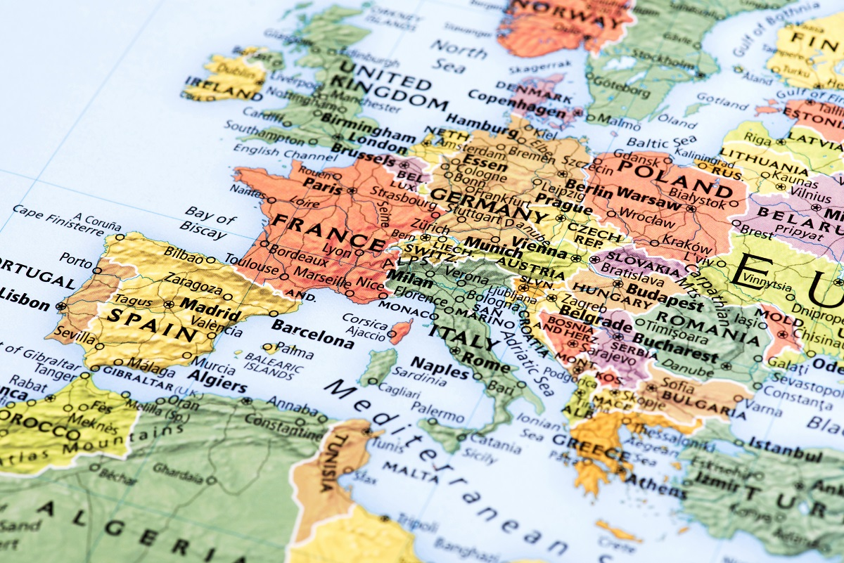 Map of Europe - Interventure